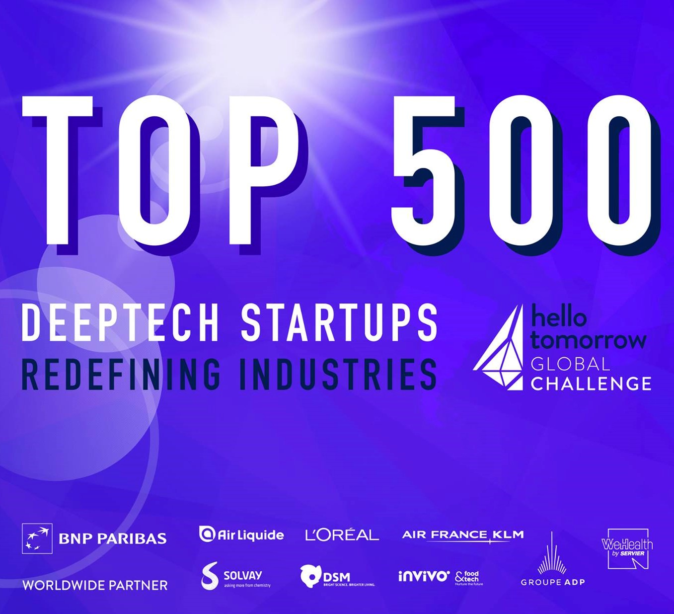 Exogenus Therapeutics on the Top 500 deeptech startups shortlist of Hello Tommorrow
